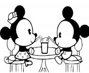 Coloriage mikey et minnie bebes