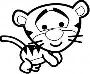 tigrou veut jouer dessin à colorier