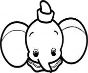 Coloriage dumbo bebe kawaii