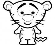 tigrou bebe dessin à colorier