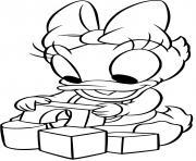 daisy duck bebe dessin à colorier