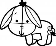 bourriquet bebe disney dessin à colorier