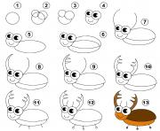 dessin facile un insecte dessin à colorier