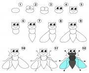 dessin facile une mouche dessin à colorier