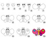 dessin facile un papillon dessin à colorier