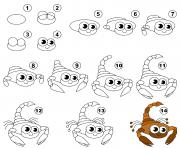 dessin facile un scorpion dessin à colorier