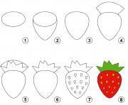 dessin facile une fraise dessin à colorier