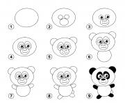 coloriage dessin facile un panda