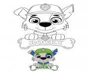 Rocky Chien Croise Qui Responsable Du Recyclage Paw Patrol dessin à colorier