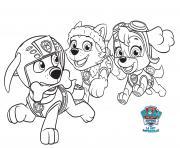 Everest Et Stella Courent Apres Zuma Paw Patrol dessin à colorier