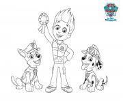 Ryder Remporte La Premiere Medaille Paw Patrol dessin à colorier