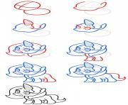 comment dessiner facilement une licorne etape par etape dessin à colorier