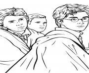 harry potter et ses amis dessin à colorier