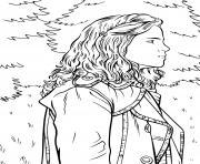 hermione dans les bois dessin à colorier