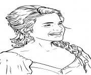hermione passe un agreable moment de rigolade dessin à colorier