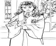 hermione et sa baguette dessin à colorier