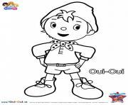 dessin anime oui oui pour enfants dessin à colorier