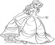 jeune femme la belle dessin à colorier