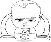 baby boss le patron du pays comme un president dessin à colorier