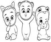 baby boss avec des deguisements dessin à colorier