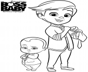 Coloriage baby boss et tim templeton