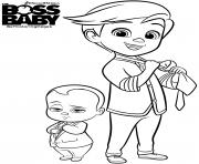 baby boss et tim templeton dessin à colorier