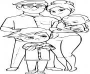 la famille de baby boss dessin à colorier