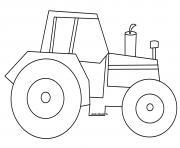 tracteur facile maternelle enfant dessin à colorier