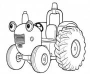 tracteur tom dessin à colorier