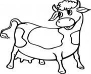 vache animaux de la ferme dessin à colorier