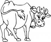 vache avec cloche dessin à colorier