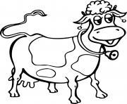 vache avec une cloche dessin à colorier