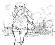 fille 10 ans ado tshirt love me dessin à colorier