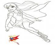 super girl superhero fille dessin à colorier