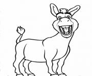 ane de shrek joyeux dessin à colorier