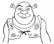 shrek ogre heureux dessin à colorier