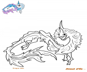 Coloriage dragon sisu raya disney