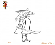 raya au royaume de kumandra dessin à colorier