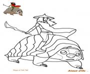 raya et tuk tuk en quete du dernier dragon dessin à colorier