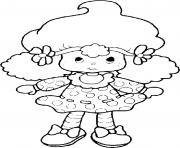 poupee Charlotte aux fraises  dessin à colorier