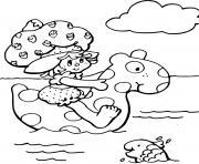 Charlotte aux fraises a la mer dessin à colorier
