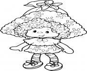 Charlotte aux fraises poupee dessin à colorier