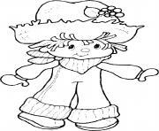 copain de Charlotte aux fraises dessin à colorier