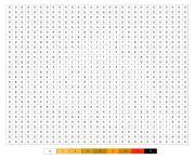 une tranche de pizza en pixel art par numero dessin à colorier