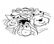 classique disney tigrou winnie porcinet bourriquet dessin à colorier
