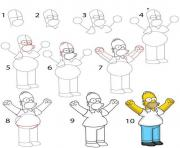 homer simpson dessin facile a reproduire dessin à colorier