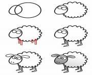 mouton dessin animaux facile dessin à colorier