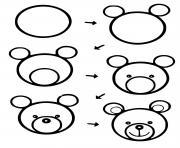 un ours dessin facile a realiser dessin à colorier