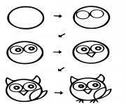 oiseau dessin facile animaux a realiser dessin à colorier