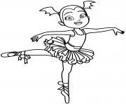 vampirina fait du ballet dessin à colorier